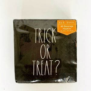 Rae Dunn TRICK OR TREAT? Beverage Napkins Lot of 2